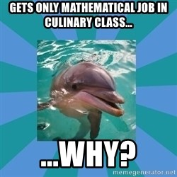 Dyscalculic Dolphin - Gets only mathematical job in culinary class... ...Why?