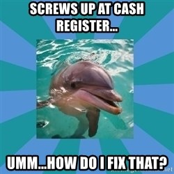 Dyscalculic Dolphin - Screws up at cash register... Umm...how do I fix that?