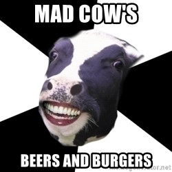 Restaurant Employee Cow - Mad cow's Beers and burgers