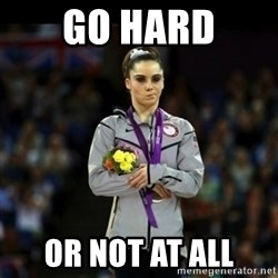 Unimpressed McKayla Maroney - go hard or not at all