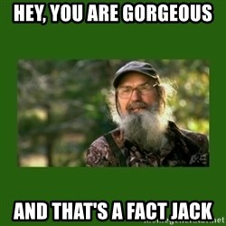 Si Robertson - Hey, you are gorgeous  and that's a fact jack
