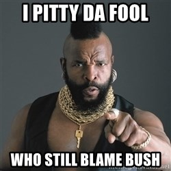 Mr T Fool - I PITTY DA FOOL WHO STILL BLAME BUSH
