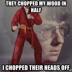 PTSD Karate Kyle - THEY CHOPPED MY WOOD IN HALF I CHOPPED THEIR HEADS OFF