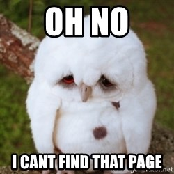 Sad Owl Baby - Oh No I cant find that page