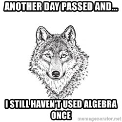 Sarcastic Wolf - another day passed and... i still haven't used algebra once