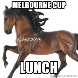 Typical horse model collector - Melbourne Cup Lunch