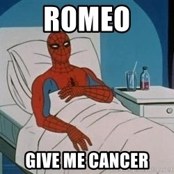 spiderman hospital - romeo give me cancer