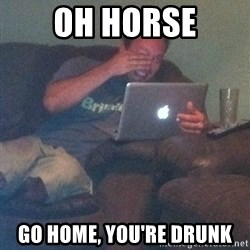 Meme Dad - Oh horse Go home, you're drunk