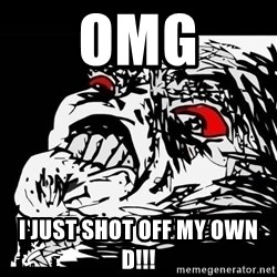 Rage Face - OMG I just shot off my own D!!!