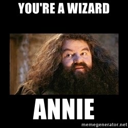You're a Wizard Harry - You're a wizard Annie