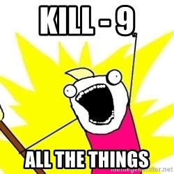 X ALL THE THINGS - kill - 9 all the things