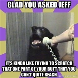 Yes, this is dog! - glad you asked jeff it's kinda like trying to scratch that one part of your butt that you can't quite reach