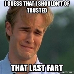 1990's problems - I guess that I shouldn't of trusted that last fart