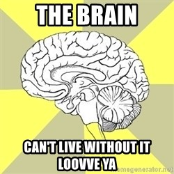 Traitor Brain - The brain can't live without it loovve ya