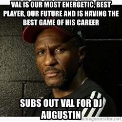 Dwane Casey's Guide to Smallball - val is our most energetic, best player, our future and is having the best game of his career subs out val for Dj augustin