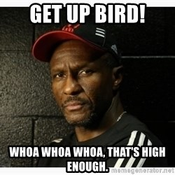 Dwane Casey's Guide to Smallball - Get up Bird! Whoa whoa whoa, that's high enough.