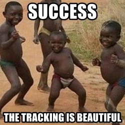 african children dancing - success the tracking is beautiful
