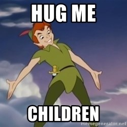 peter pan butt - hug me children