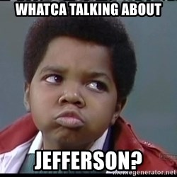 Arnold Different strokes - Whatca talking about jefferson?