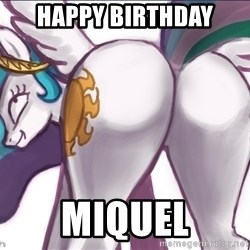 Princess Molestia Flank - Happy birthday miquel