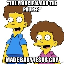 """Rod & Todd Flanders - """"The Principal and the Pauper"""" made Baby Jesus cry"""