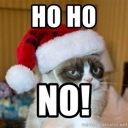 Grumpy Cat Santa Hat - HO HO  NO!
