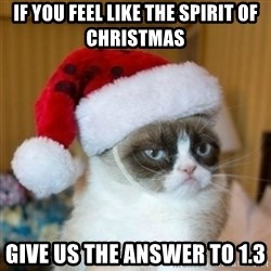 Grumpy Cat Santa Hat - If you feel like the spirit of christmas give us the answer to 1.3