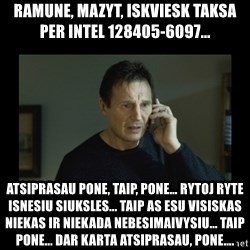 I will find you and kill you - Ramune, mazyt, iskviesk taksa per intel 128405-6097... atsiprasau pone, taip, pone... rytoj ryte isnesiu siuksles... taip as esu visiskas niekas ir niekada nebesimaivysiu... taip pone... dar karta atsiprasau, pone....