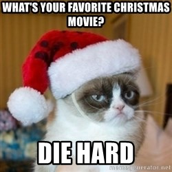 Grumpy Cat Santa Hat - What's your favorite Christmas movie? Die hard