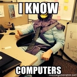 business skeletor - I know computers