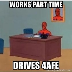 Spider-Man Desk - Works part time  Drives 4afe