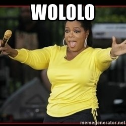 Overly-Excited Oprah!!!  - WOLOLO