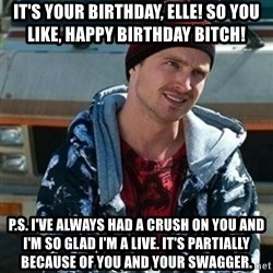 Breaking bad jesse - It's your birthday, elle! so you like, happy birthday bitch! p.s. I've always had a crush on you and I'm so glad I'm a live. it's partially because of you and your swagger.