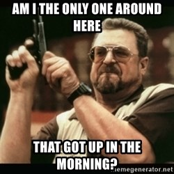 am i the only one around here - am i the only one around here That got up in the morning?