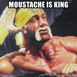 Hulk Hogan can't hear you - moustache is king