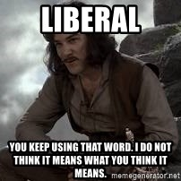 Inigo Montoya Princess Bride - LIBERAL You keep using that word. I do not think it means what you think it means.