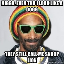 Snoop lion2 - Nigga, even tho I look like a dogg They still call me snoop lion