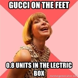 Amused Anna Wintour - GUCCI ON THE FEET 0.8 UNITS IN THE LECTRIC BOX