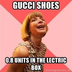 Amused Anna Wintour - GUCCI SHOES 0.8 UNITS IN THE LECTRIC BOX