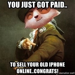 URALO - You Just Got Paid.. To sell your old iphone online..Congrats!