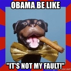 "Triumph the Insult Comic Dog - obama be like ""it's not my fault!"""