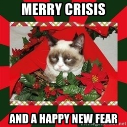 GRUMPY CAT ON CHRISTMAS - merry crisis and a happy new fear