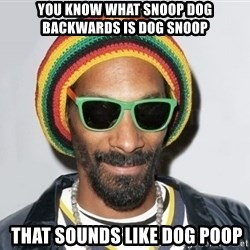 Snoop lion2 - you know what SNOOP DOG BACKWARDS IS DOG SNOOP  that sounds like dog poop
