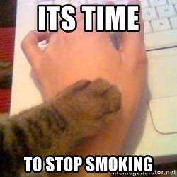 It's time to stop cat - its time  to stop smoking