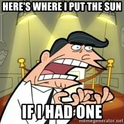 If I had one- Timmy's Dad - Here's where I put the sun If I had one