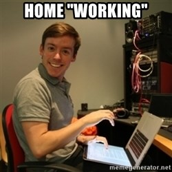 "Ridiculously Photogenic Journalist - Home ""working"""