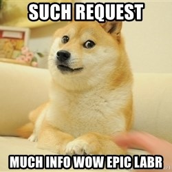 Original Doge - SUCH REQUEST MUCH INFO WOW EPIC LABR
