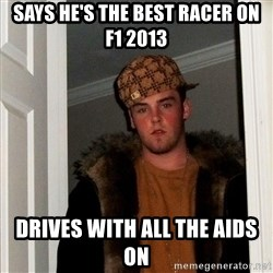 Scumbag Steve - says he's the best racer on f1 2013 drives with all the aids on