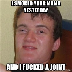 Stoner Guy - i smoked your mama yesterday and i fucked a joint