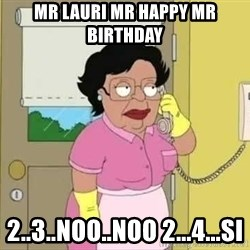 Consuela no non ono - Mr Lauri Mr Happy Mr Birthday 2..3..noo..noo 2...4...si